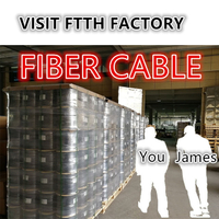 Take you to visit the FTTH fibra óptica cable fiber optic drop indoor cables factory production department
