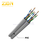 U/UTP Dual CAT 5E BC PVC CM Twisted Pair Installation Cable
