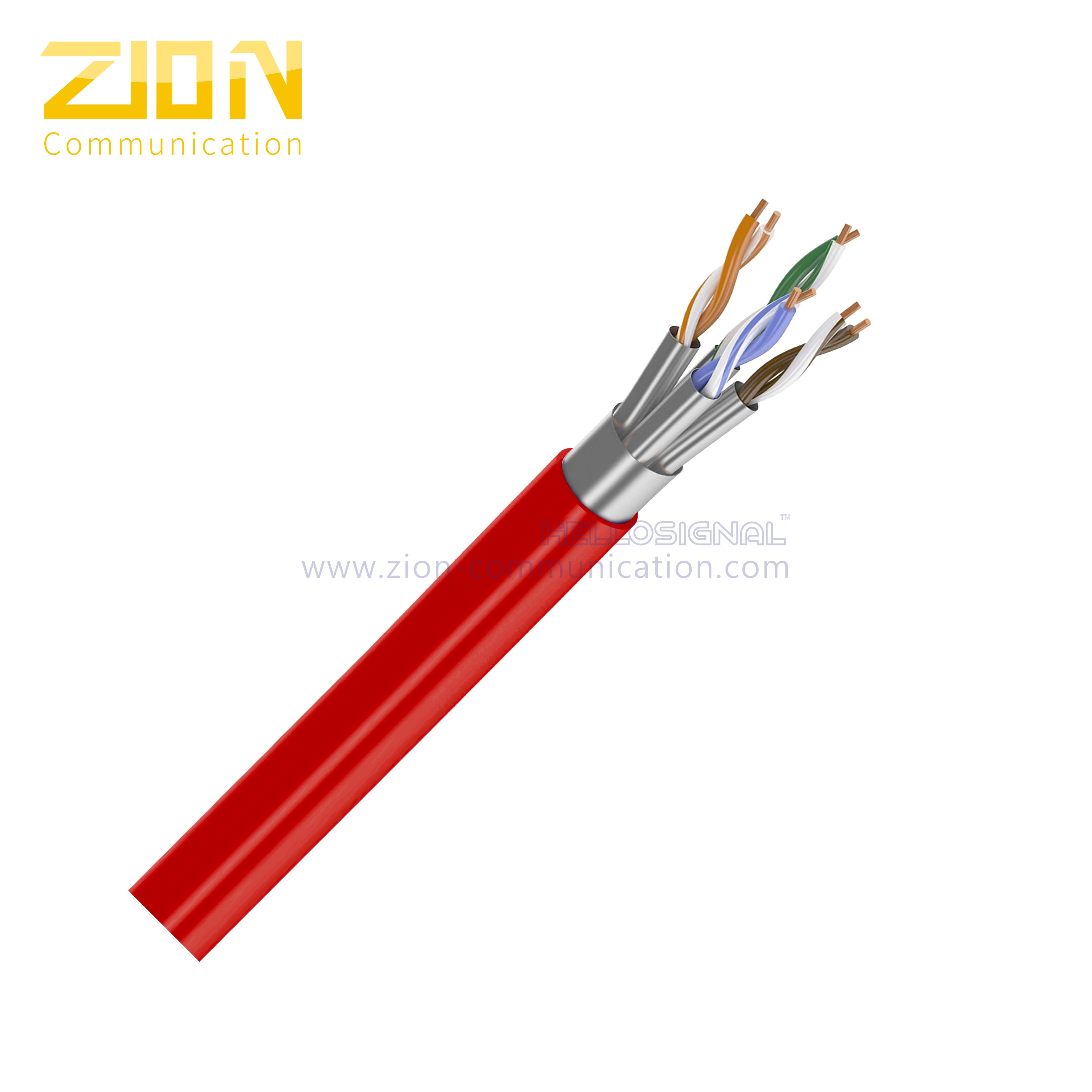 U/FTP CAT 6A BC PVC CMR Twisted Pair Installation Cable
